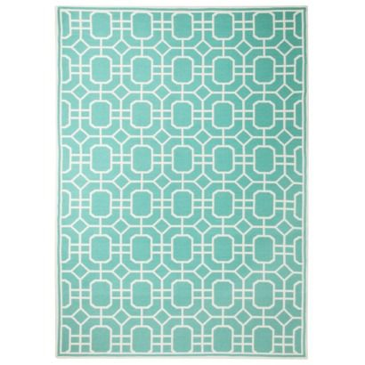 Threshold indoor outdoor area rug blue area rugs for Living room rugs target