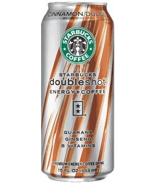 Starbucks Doubleshot® Energy+Cinnamon Dolce Drink; An invigorating blend of espresso, cinnamon, caramel syrup, B vitamins, guarana and ginseng.
