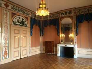 Huis Barnaart (1804) Etrurische kamer. Reconstructie van de Abraham van der Hart's kleurige interieurafwerking op basis van kleurhistorisch- en archiefonderzoek