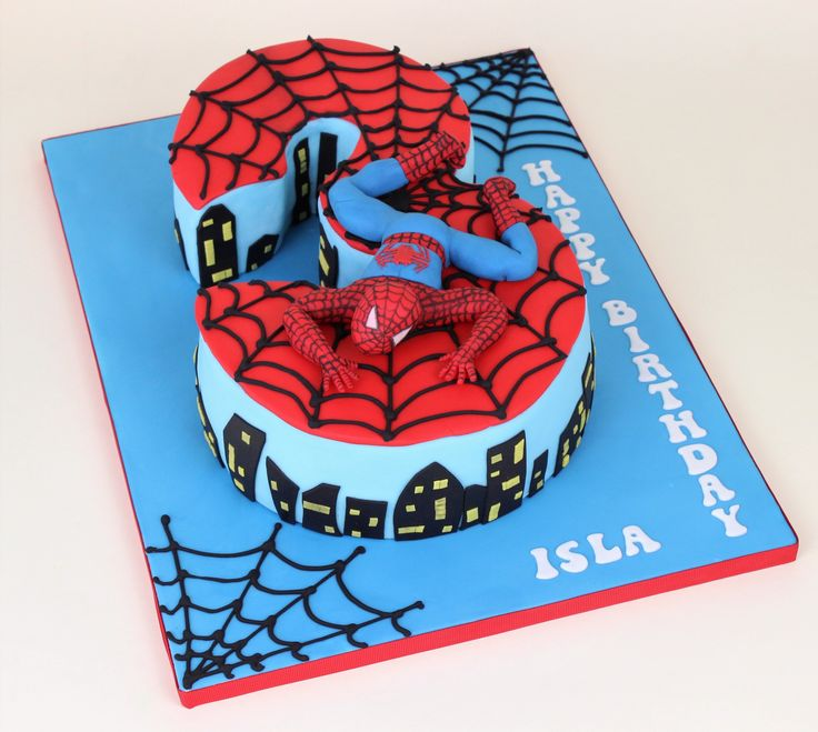 Spiderman, number 3 cake