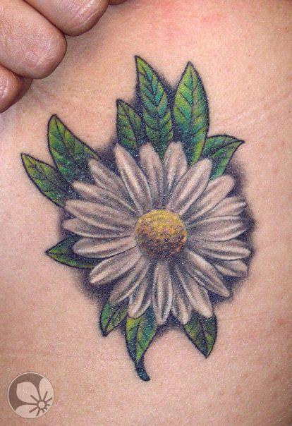 daisy flower tattoo קעקוע פרח חרצית « Spring Tattoo ...