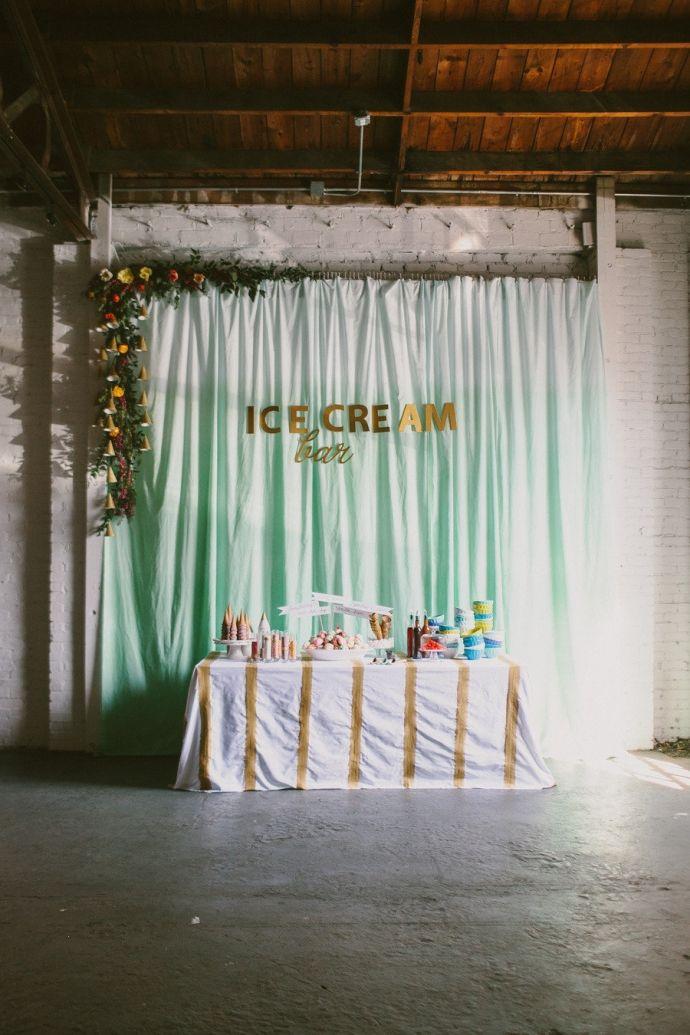 Ice-cream bar. Follow us on Instagram @ bridemagazine #wedding #inspiration #weddingideas