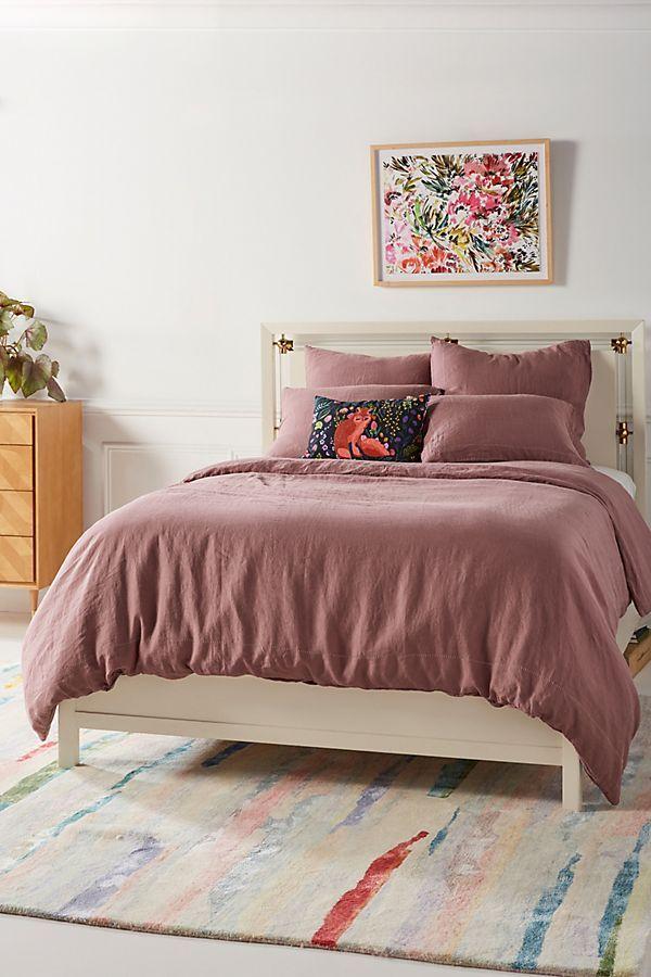 Stitched Linen Duvet Cover Linen Duvet Linen Duvet Covers Bed Linen Design