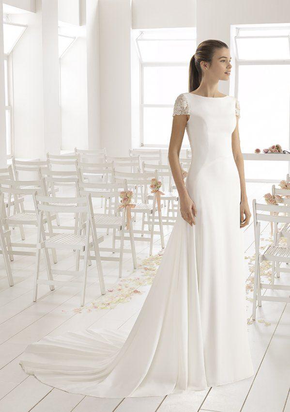 2c1e8 Burton Vestido De Novia Aire Barcelona En Madrid Wedding Dresses Short Sleeve Wedding Dress Glamour Dress