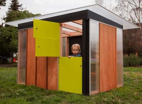 modern play house | How awesome are these modern playhouses that I spied on Abbey's ...