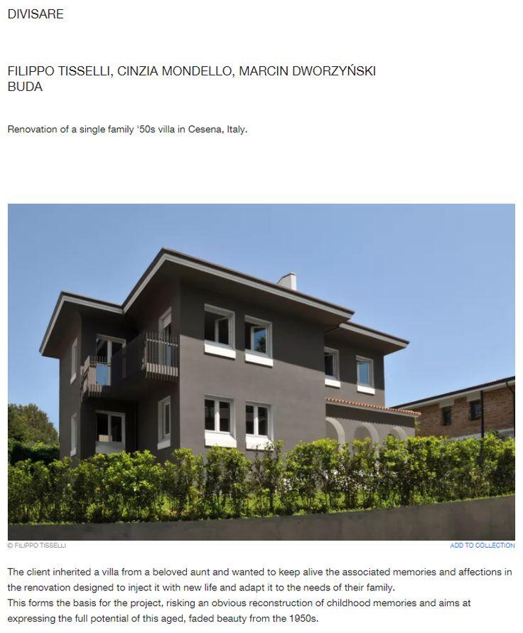#tissellistudio single family villa in Cesena, published by DIVISARE
