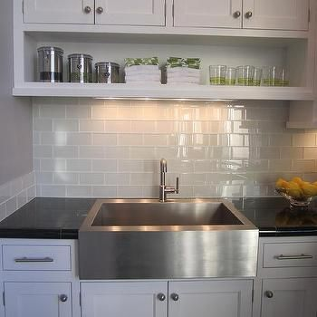 Gray Subway Tile, Transitional, kitchen
