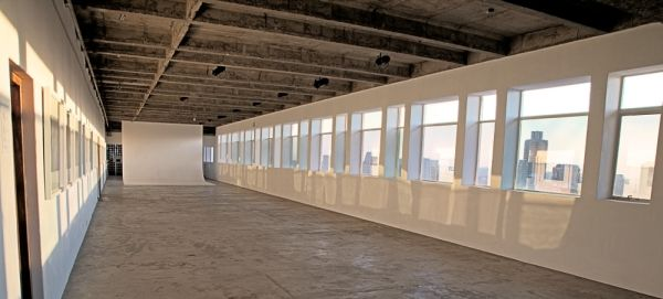 intermission gallery in the heart of Johannesburg. its a raw venue. comes with nothing but has one of the best views in JHB