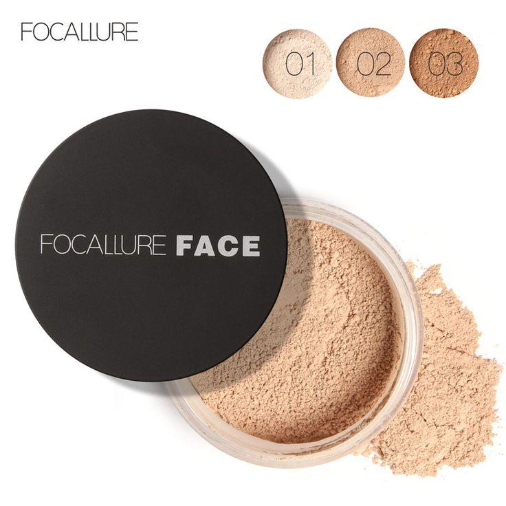 Focallure baru merek makeup bubuk 3 warna longgar bubuk wajah makeup tahan air longgar bubuk finish kulit bubuk