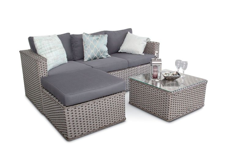 Furniture Sofa Set Rattan Corner, Small Rattan Garden Furniture Uk