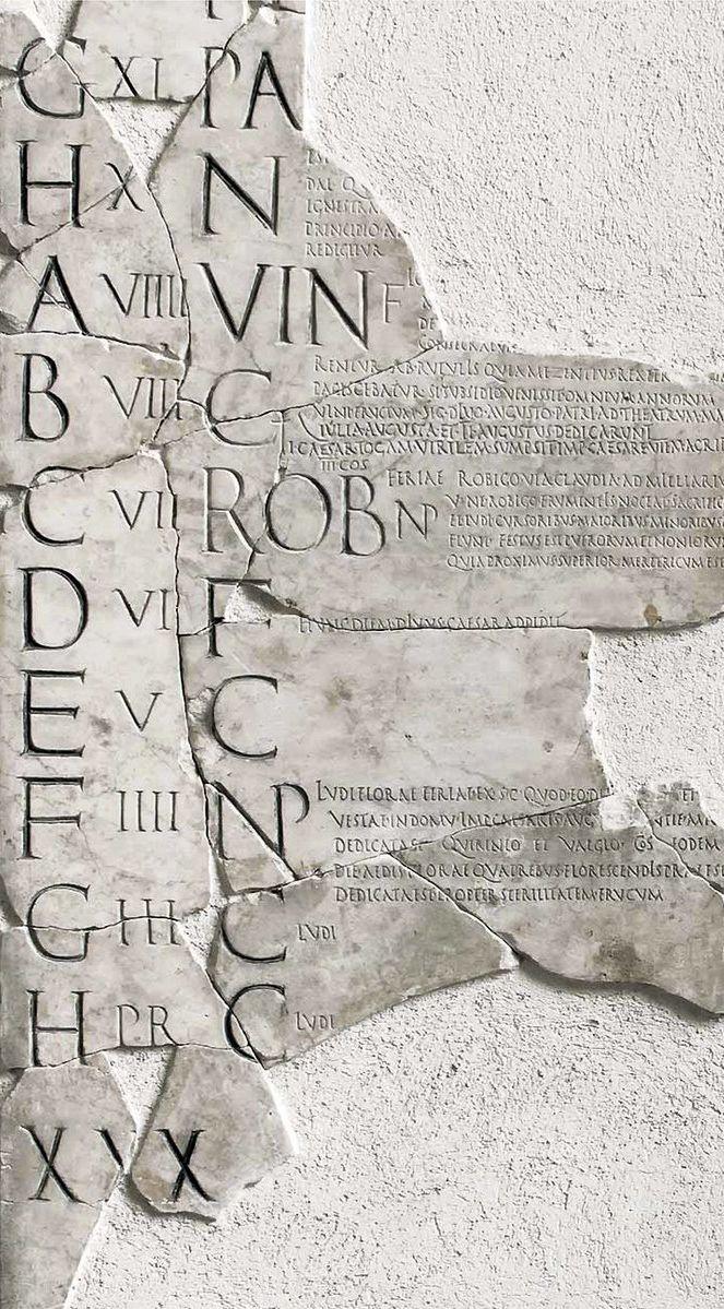 FASTI. Calendario Romano. Fragmento Fasti Praenestini.