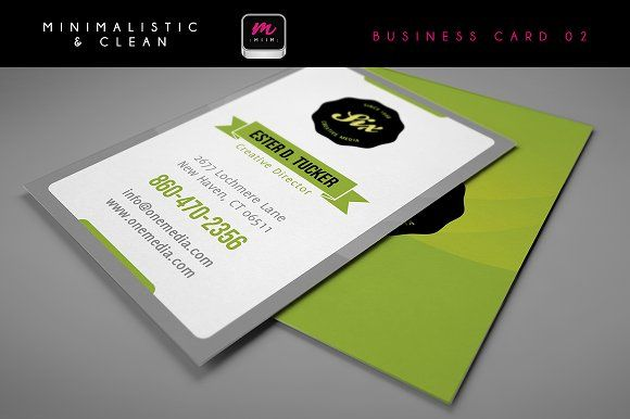 Clean Business Card Template 02 Cleaning Business Cards Minimal Business Card Business Cards Creative Templates