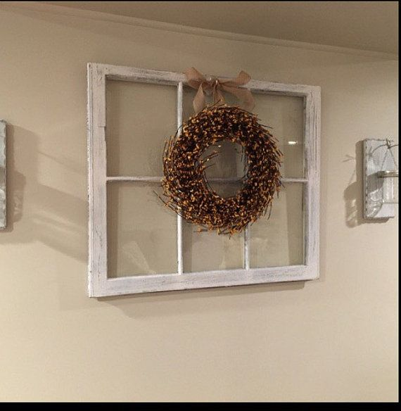Wreath Hanger Window Wreath Hanger Wood Window Sash
