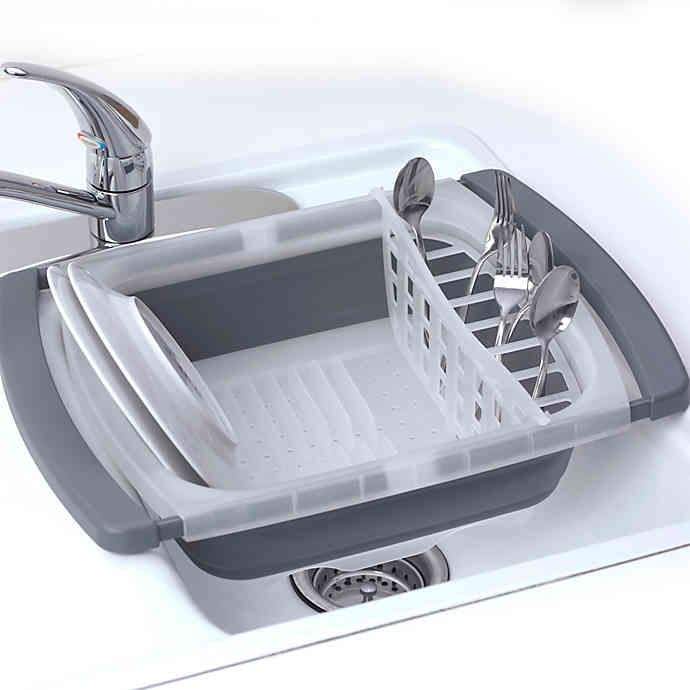 Prepworks Collapsible Over The Sink Dish Drainer Bed Bath