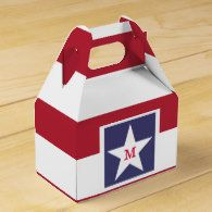 Customizable Stars and Stripes USA Momogram Favor Box