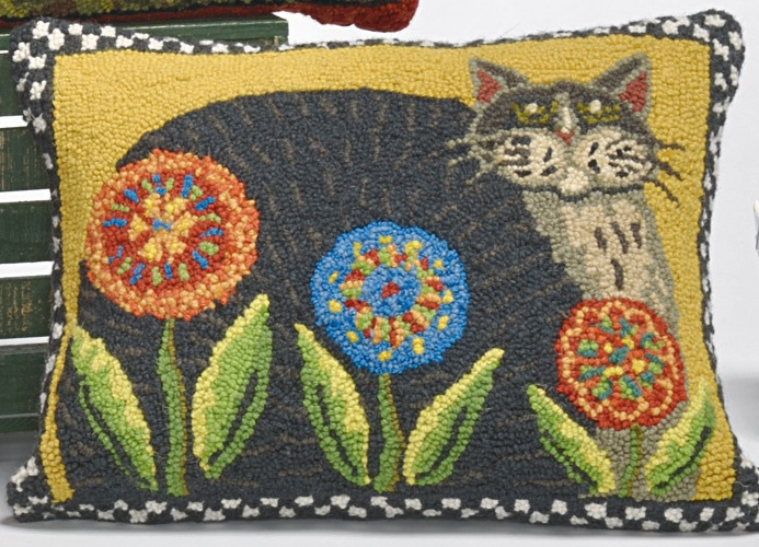 Penny Cat Hand Hooked Pillow 43 99 From Williamsburg