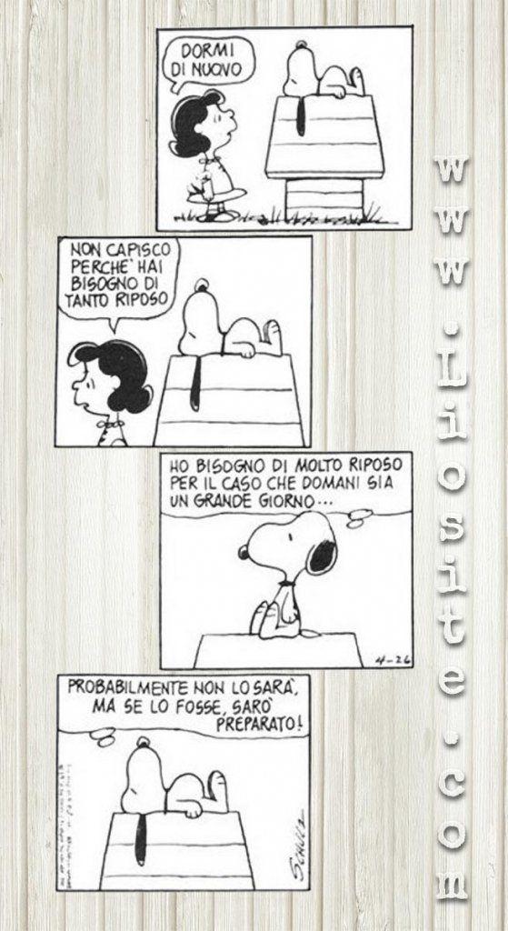 La filosofia di Snoopy ;) #Peanuts, #Snoopy, #riposo, #grandegiorno, #cartoon, #liosite, #citazioniItaliane, #frasibelle, #ItalianQuotes, #Sensodellavita, #perledisaggezza, #perledacondividere, #GraphTag, #ImmaginiParlanti, #citazionifotografiche,