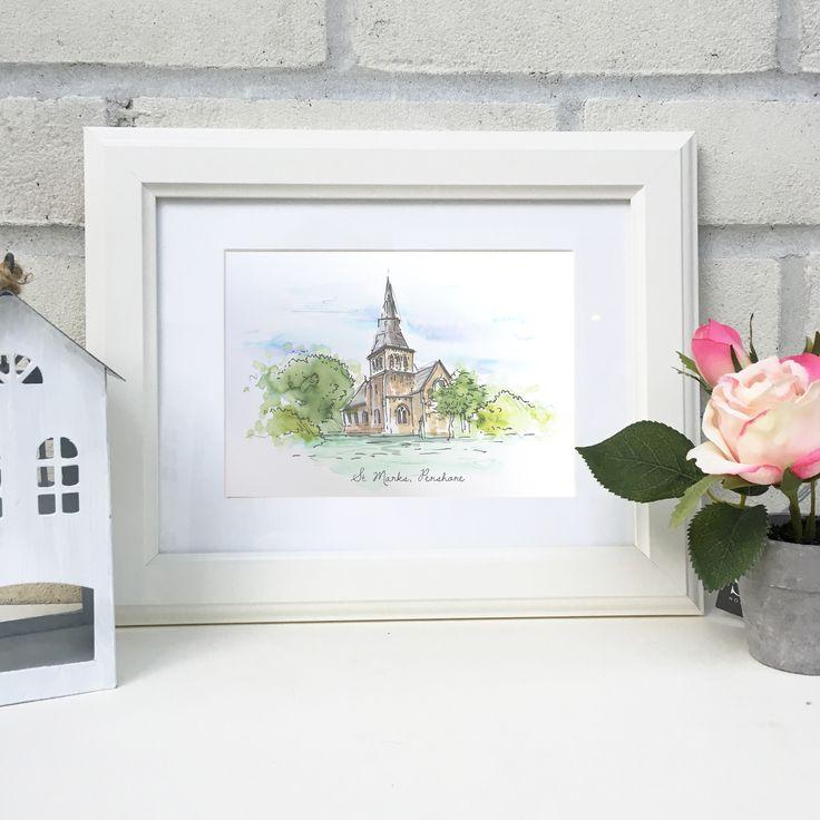 Personalised+Hand+Drawn+Wedding+Venue+Illustration, £53.00