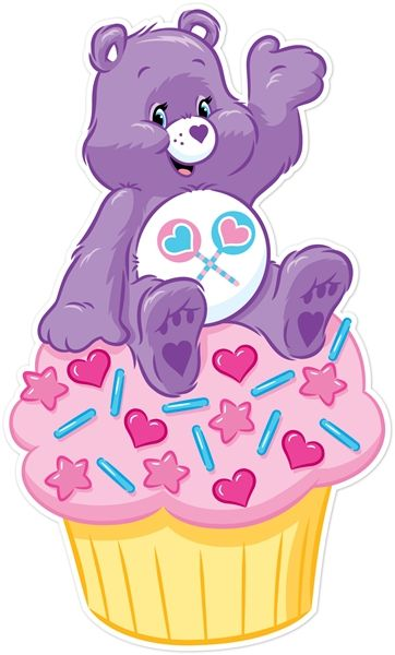Share Bear on Cupcake Wall Graphics