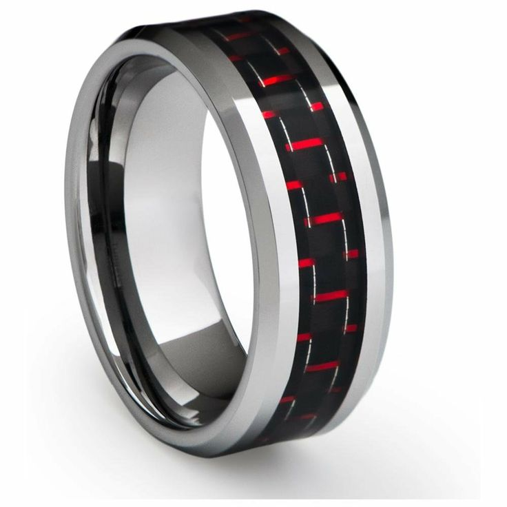 Red Zing Tungsten Ring for Men, $110.00 (http://www.june26.ca/red-zing-tungsten-ring-for-men/)