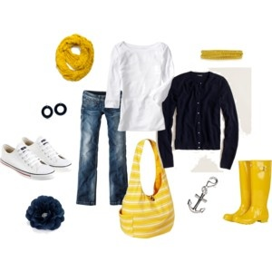 Rain boots! : Colors Combos, Fashion, Yellow Boots, Style, Rainy Day Outfits, Boats Beautiful, The Navy, Old Navy, Yellow Rain Boots