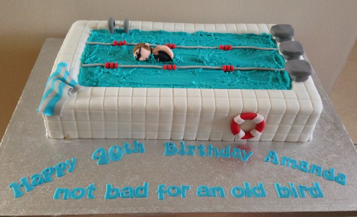 swimming pool birthday cake birthday ideas pinterest birthday cakes pools and birthdays