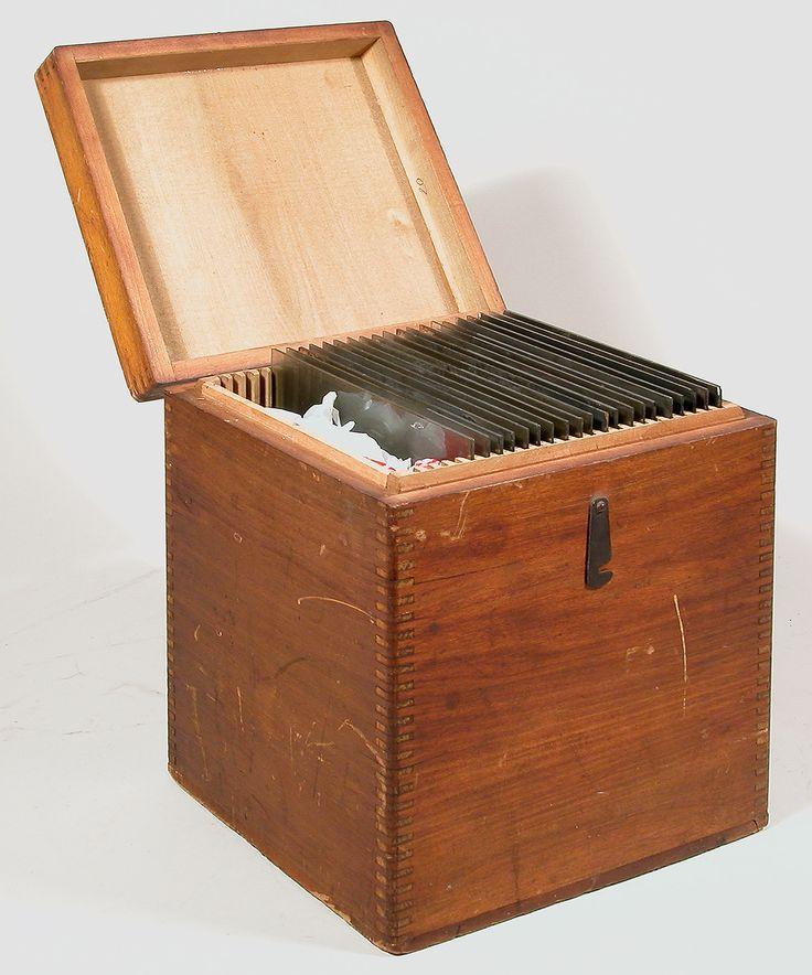 Unknown Manufacturer Glass Plate Storage Box