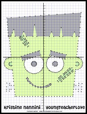 Halloween Coordinate Graphing Mystery Pictures!! My students LOVE these, and they are SUPER easy for me to prepare! So much fun for the holidays!$