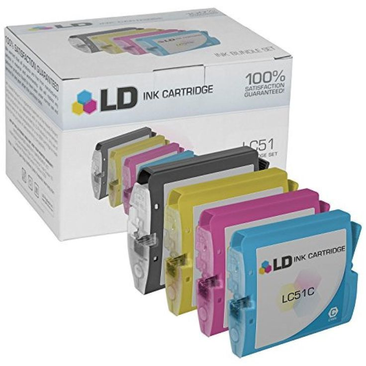 LD © Compatible Replacement for Brother LC51 Set of 10 Inkjet Cartridges Includ…
