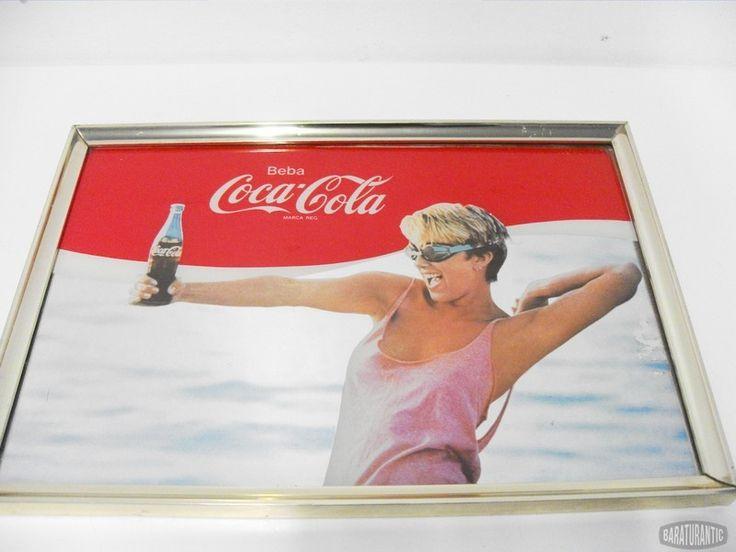 Espejo Publicidad Coca-Cola Años 80's Rare Vintage