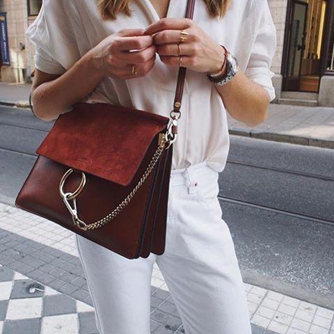 Chloe Faye bag #style #fashion #whitejeans