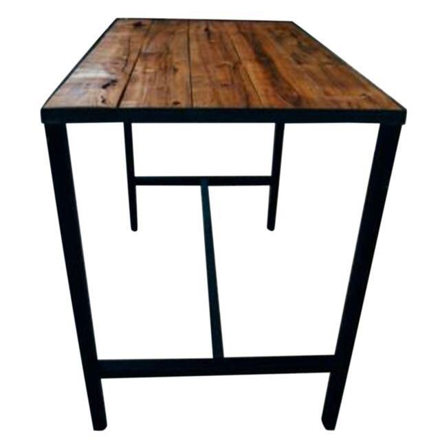 Hardwood Bar Table On Chairish Com Bar Or Counter Height