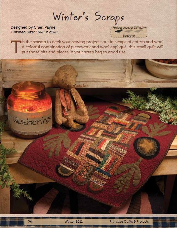 Winter Primitive Quilts & Projects by Cheri Payne