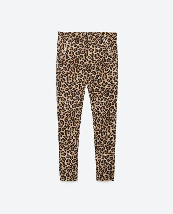 Image 8 of TROUSERS WITH ZIPS from Zara