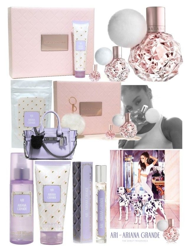 """""""Ariana by Ariana Grande debut fragrance"""" by tennesseegirl307 ❤ liked on Polyvore featuring beauty and Coach"""