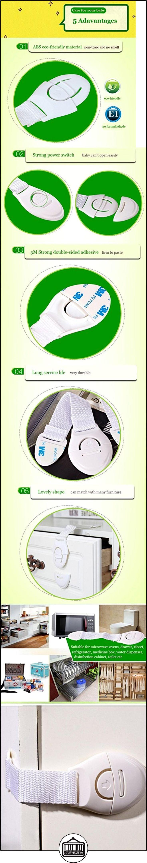 Kungfu Mall 5pcs frigorífico Aseo Cajones niños niños bebé seguridad plástico Cerraduras pantalla  ✿ Seguridad para tu bebé - (Protege a tus hijos) ✿ ▬► Ver oferta: http://comprar.io/goto/B01DKF4RR8