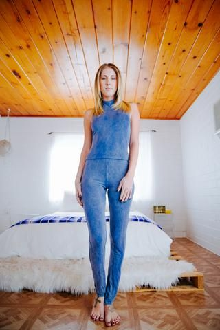 Indigo Halter Jumper - People of Leisure Clothing Co.