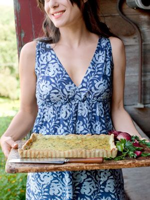 Goat Cheese Tart #recipe from the Food Network's Ted Allen