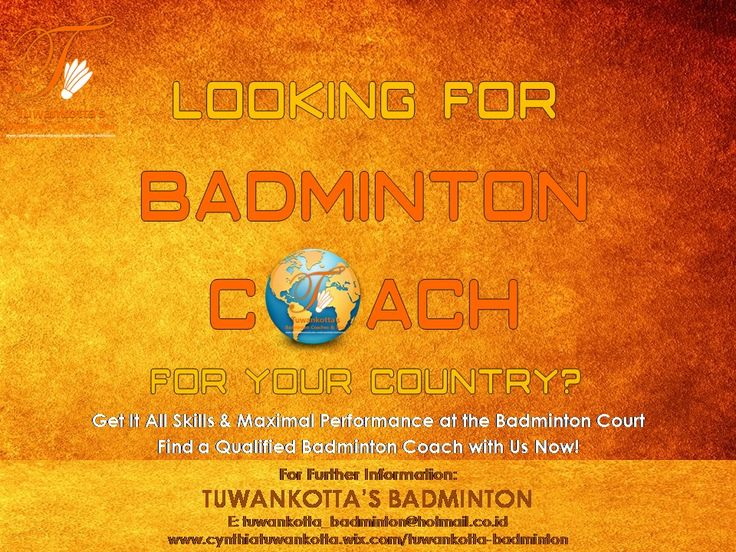 Looking for Badminton Coach for your country? We Provide it!