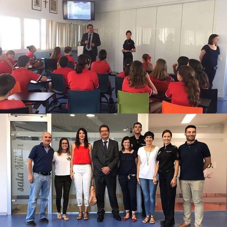 Hoy el subdelegado del Gobierno en #Alicante José Miguel Saval y la Policía Nacional han estado con los alumnos de sexto de Primaria. @dgobiernocv