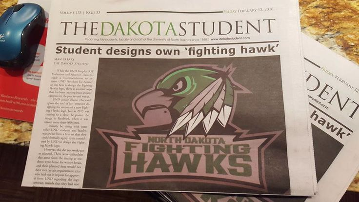 University of North Dakota Fighting Hawks Concept ...this I like!