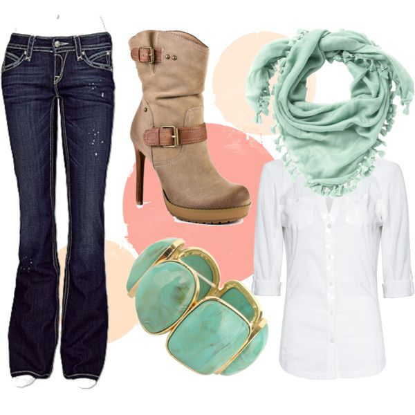 Pale Green-Blue, created by #kikisuz on #polyvore