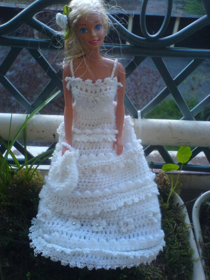 66 best Crochet-Häkel Barbie Hochzeitskleid - Weddingdress images on ...