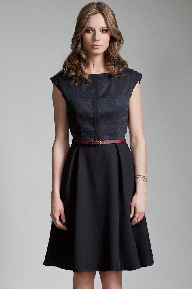 Rishi Dress by Jennifer Glasgow.  Cap sleeve dress with full skirt.