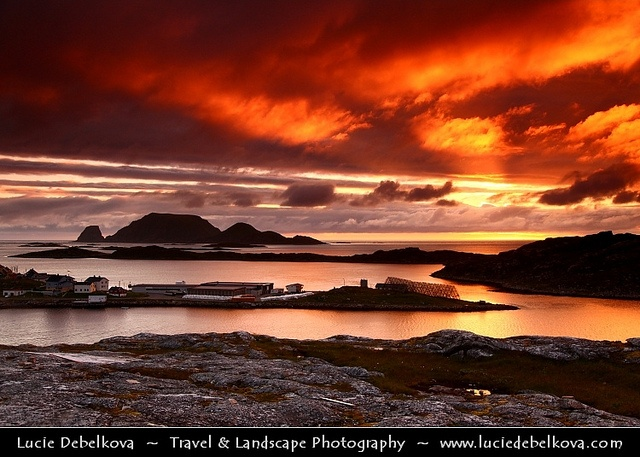 Norway - Finnmark - Midnight Sun at Gjesvær - The Very North of Europe - Sunrise at 1am!    www.luciedebelkov...