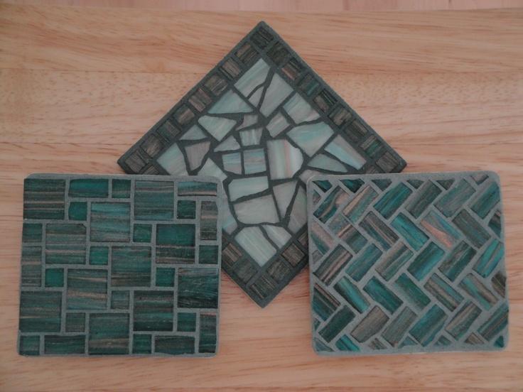 Coasters  ~ from My Mosaic Tile Projects by Carlos & Teresa Maldonado