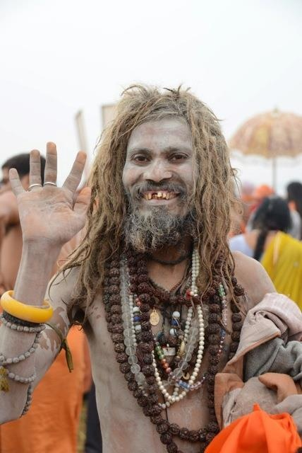 At the Maha Kumbh Mela in Allahabad, India... the festival that happens once every 144 years.    Describing the magic of the place is quite a challenge. I feel cooked through to the core by everything I've seen today. Totally in awe of it all...    The overwhelming thing is the sense that India is a realm that's completely and utterly in tune with its own identity. What a glorious thing that is.