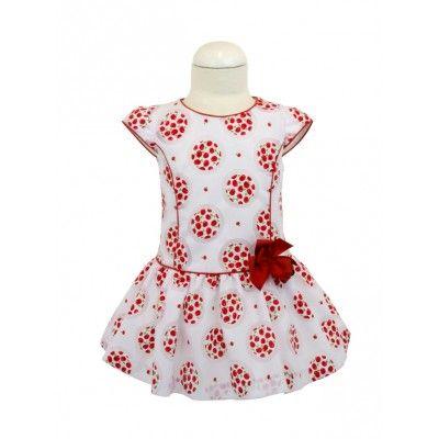 Vestido de niña talle bajo - familia cerezas-moda infantil. #modaminis…
