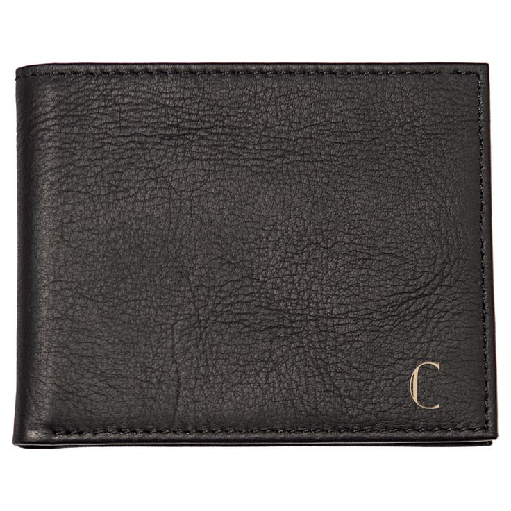 Monogram Bi-fold with Multi-Function Tool Groomsmen Gift Wallet - C, Men's, Black