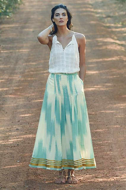 Far Seas Maxi Skirt - anthropologie.com 2015